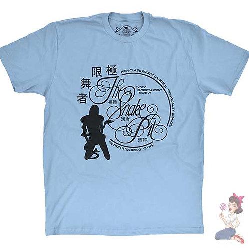The snake pit flat blue t-shirt