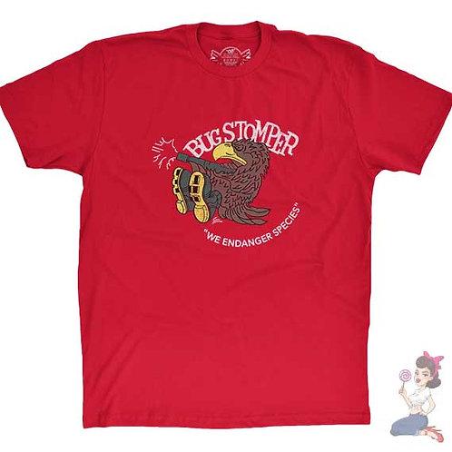 Bug stomper flat red t-shirt