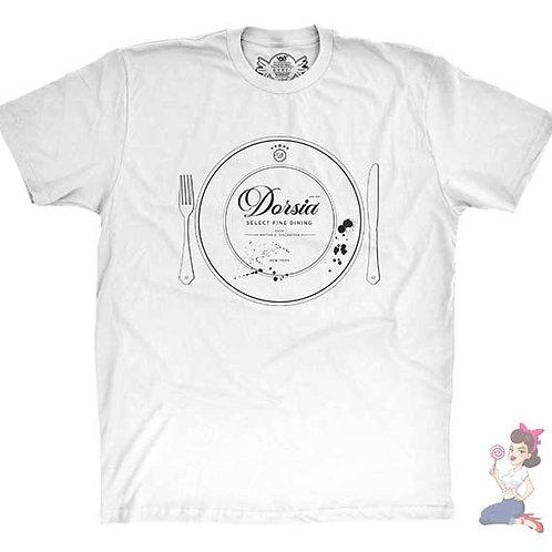 Dorsia Select Fine Dinning flat white t-shirt