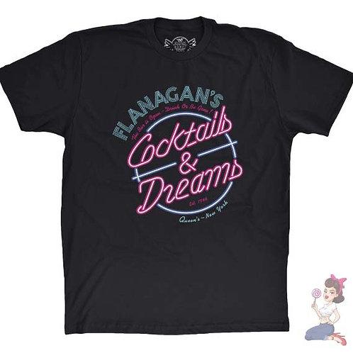 Flanagan's cocktails & Dreams flat Black t-shirt