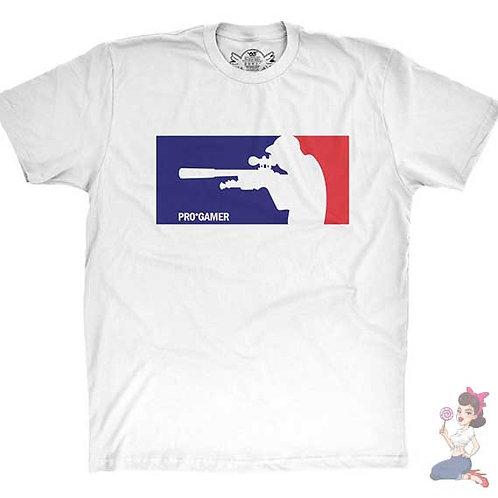 Pro gamer flat white t-shirt
