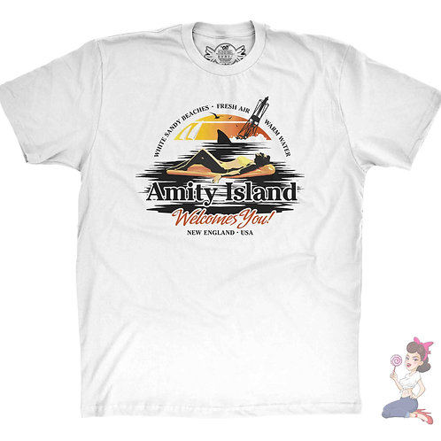 Jaws Amity Island white t-shirt