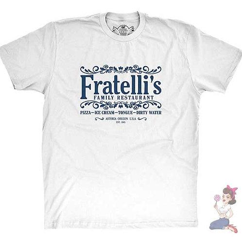 Fratelli's family restaurant flat white t-shirt
