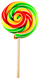Green Twirly Lollypop