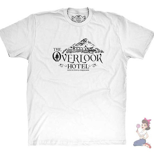 The Overlook Hotel flat white t-shirt
