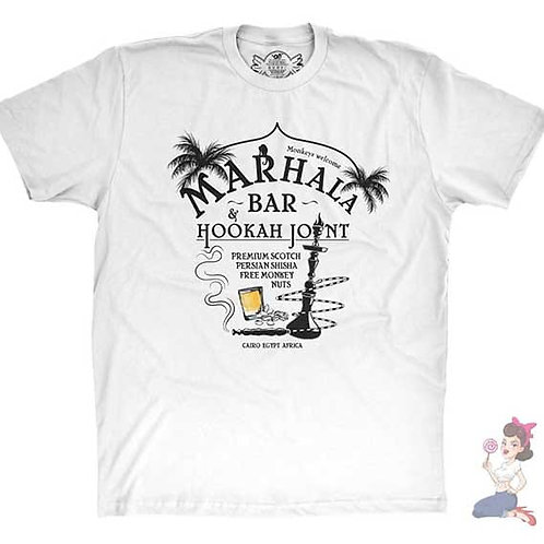 Indiana Jones Marhala bar flat white t-shirt