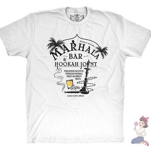 Indiana Jones Marhala bar flat white t-shirt