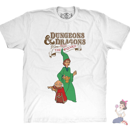 Presto the Magician from Dungeons and Dragons White t-shirt