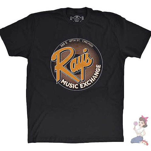 Ray's Music Exchange flat black t-shirt