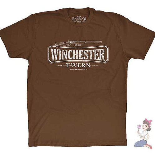The Winchester Tavern brown flat t-shirt