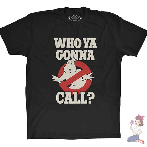 Ghostbusters who ya gonna call black t-shirt