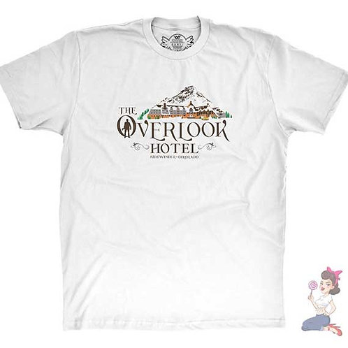 The Shinning The Overlook Hotel white t-shirt