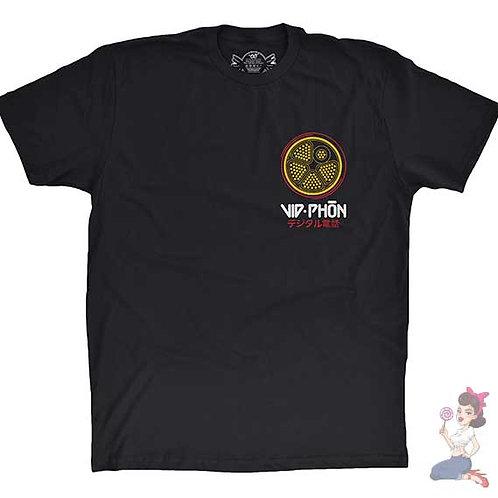 Vid phon flat black t-shirt