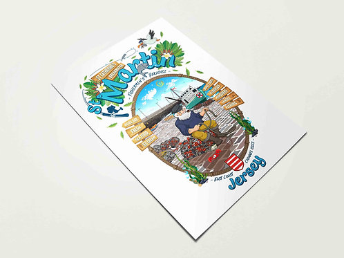 St Martin Fishermen's Paradise Print Jersey