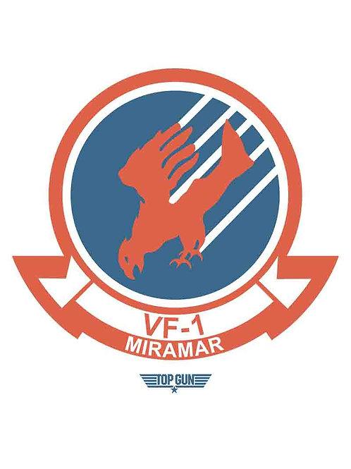 Top Gun VF-1 Miramar Movie Poster