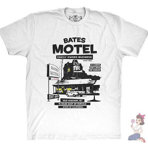 Bates Motel white flat t-shirt