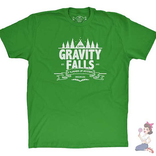 Gravity Falls flat green t-shirt
