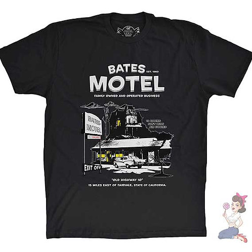 Bates Motel flat black t-shirt