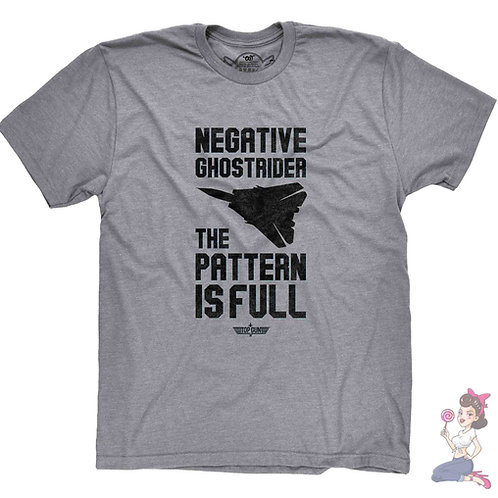 Top Gun Negative Ghost Rider The Pattern is Full T-shirt