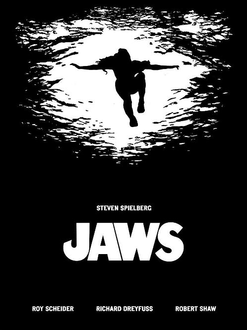 Jaws Silhouette Of A Women From Below Movie Poster