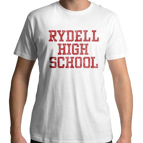 Men's regular full frontal white t-shirt of Rydell High School