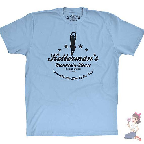 Kellerman's mountain house flat blue t-shirt