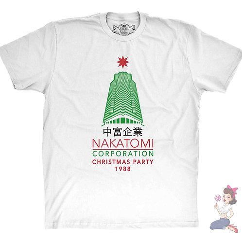 Die Hard Nakatomi Corporation Christmas Tower white t-shirt