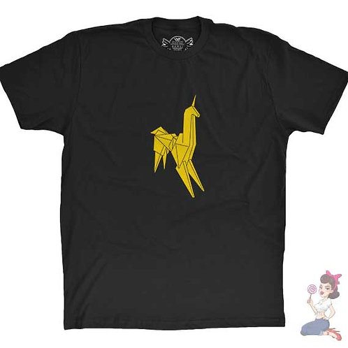 Blade runner unicorn flat black t-shirt