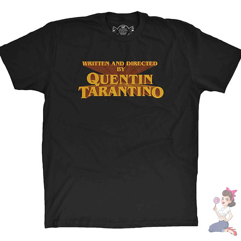 Written and Produced By Quentin Tarantino black t-shirt