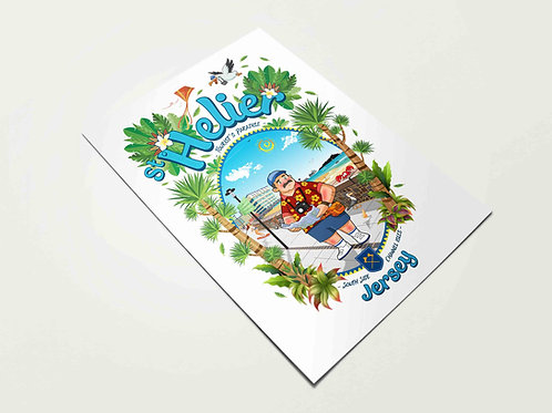 St Helier Tourist Paradise Print Jersey