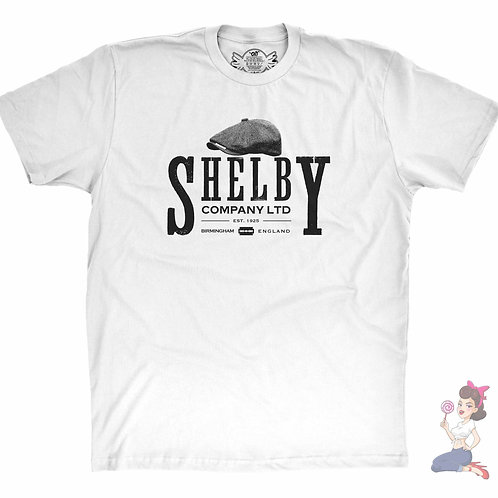 Peaky Blinders shelby company flat White t-shirt