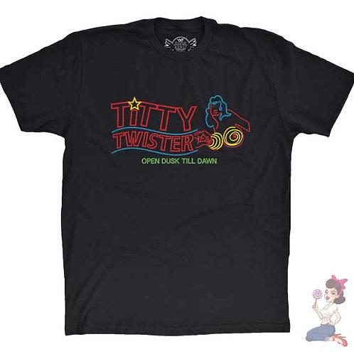 Titty Twister Open Dusk Till Dawn flat black t-shirt