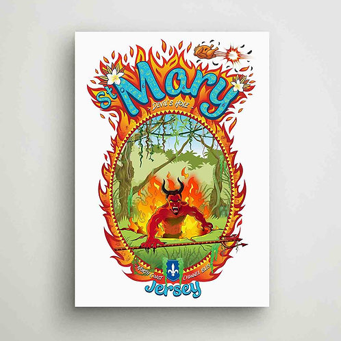 St Mary Devils Hole Poster Print Jersey