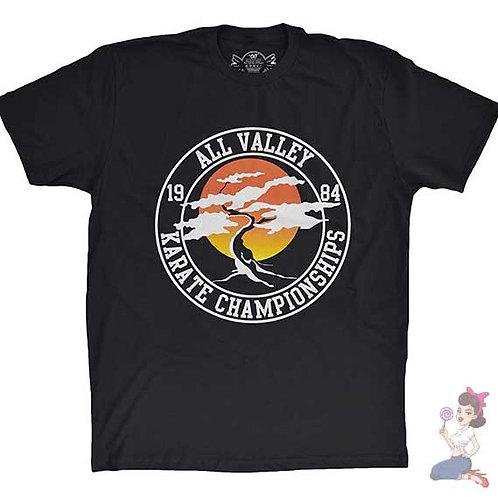 All valley karate championships flat Black t-shirt