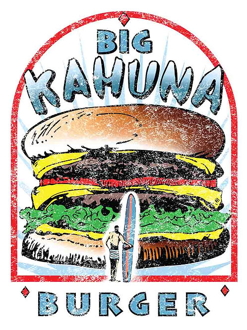 Pulp Fiction Big Kahuna Burger Movie Poster
