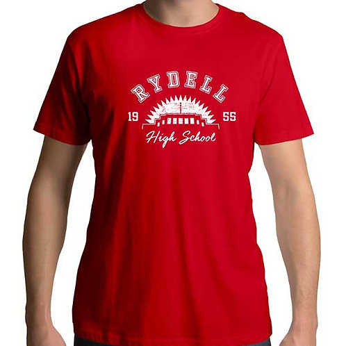 Men's regular full frontal red t-shirt of Rydell High School
