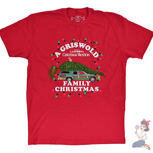 National Lampoon's - A Griswold Family Christmas flat red t-shirt