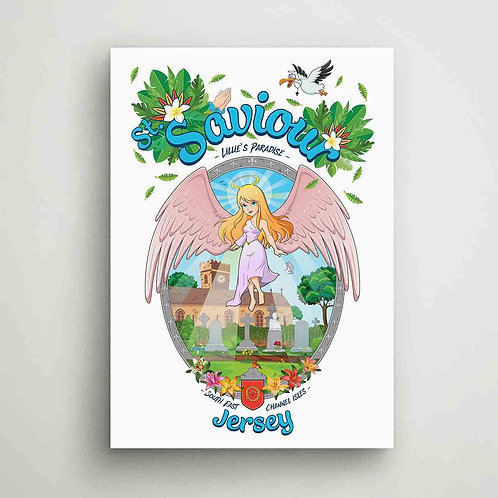 St Saviour Lillie's Paradise Poster Print Jersey
