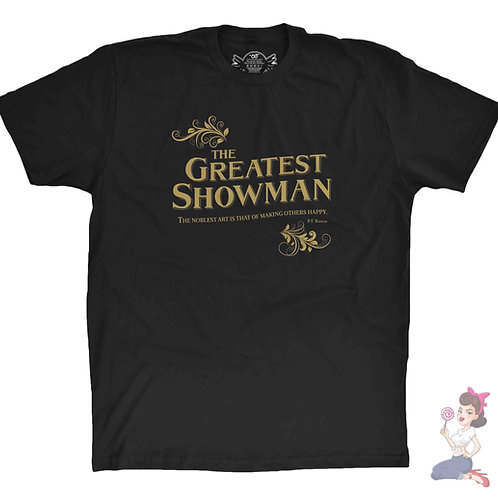 The Greatest Showman flat black t-shirt