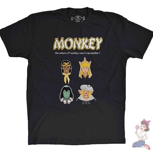 Monkey Magic black t-shirt