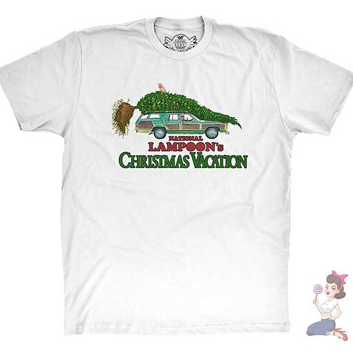 National Lampoon's Clark Griswold Christmas Tree flat white t-shirt