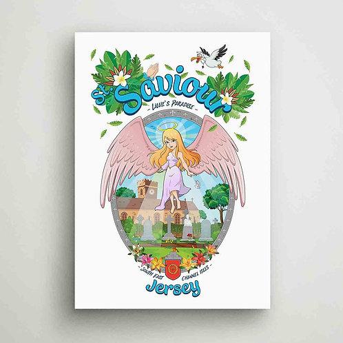 St Saviour Lillie's Paradise Canvas Print Jersey
