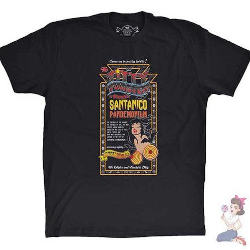 From Dusk Till Dawn Santanico Pandemonium flat black t-shirt