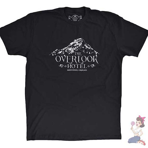 The shinning the overlook hotel flat black t-shirt