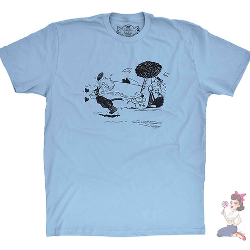 Krazy Kat light blue t-shirt