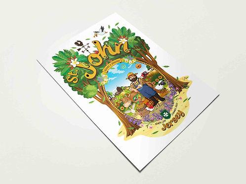 St John Nature's Paradise Print Jersey