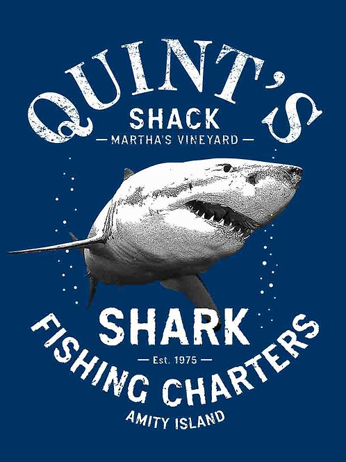 Quint's Fishing Charters White Shark Movie Poster