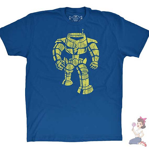 The Big Bang Theory Robot T-shirt flat blue t-shirt