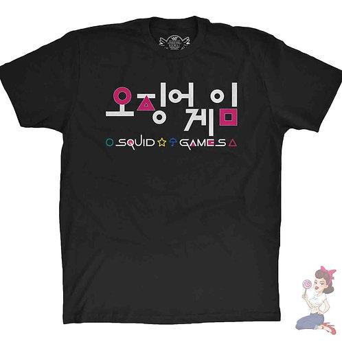 Squid Game Shapes Black T-Shirt