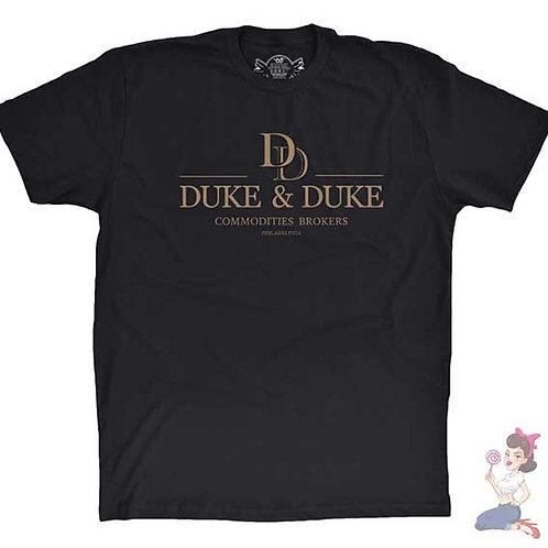 Trading Places Duke & Duke flat black t-shirt